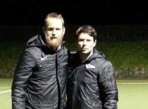 Australiens proffac-Coach Andrew Taylor und proffac-Geschäftsführer Alexander Otto aktualisieren gegenseitig, wofür proffac in Übersee und im Weltmeisterland Deutschland derzeit steht