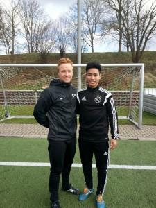Fugo und Philipp beim Training