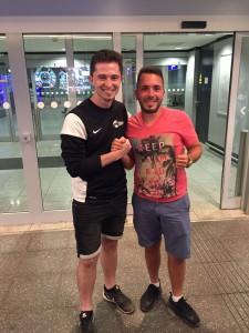(c) by proffac UG: proffac Germany empfängt proffac Australia Coaches am Flughafen