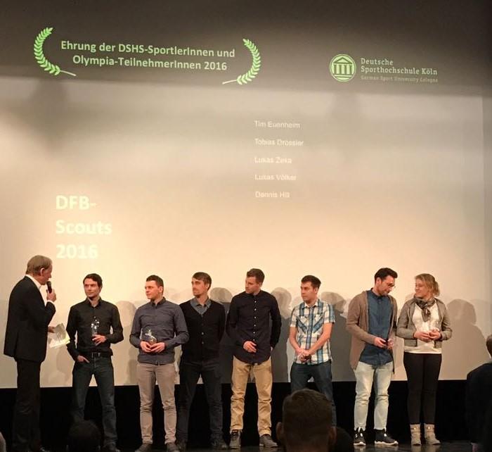 (c) proffac Trainer bei der Ehrung als Scouts für den DFB an der DSHS Köln ausgezeichnet